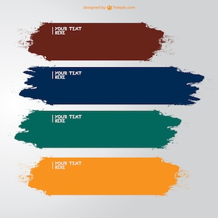 Paint vector free template