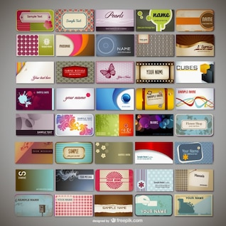 variety of business card template    vector material