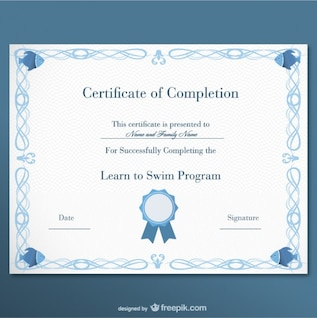 Certificate free template