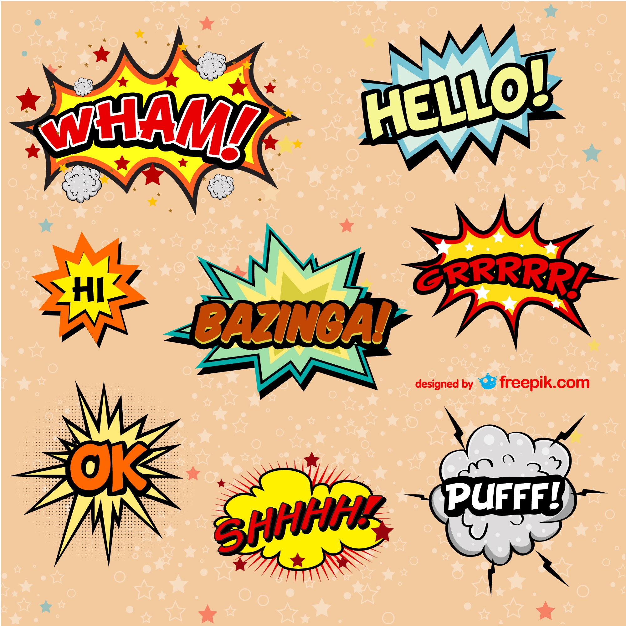 Comic book vector exclamations