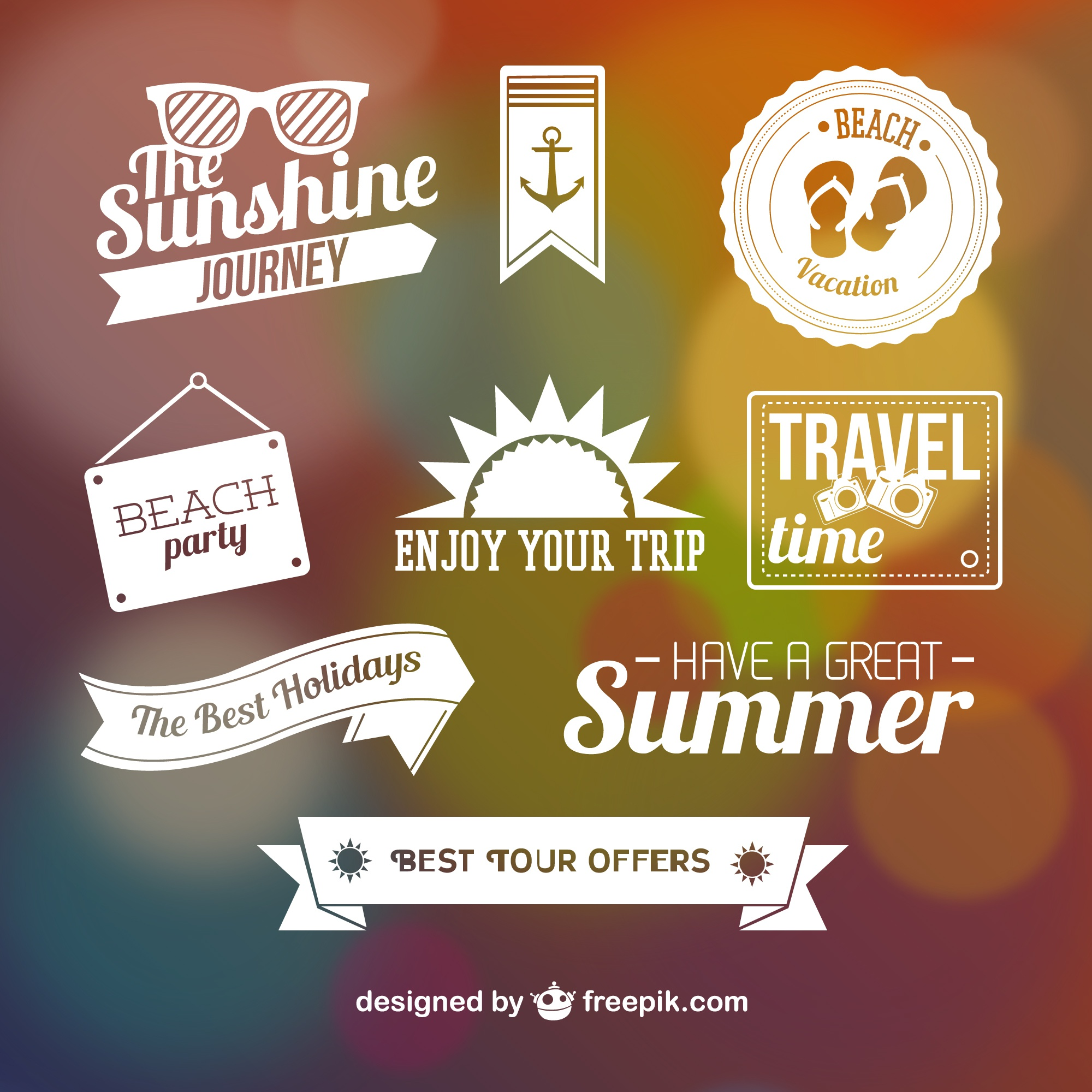 Summer graphic elements