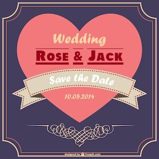 Romantic wedding card