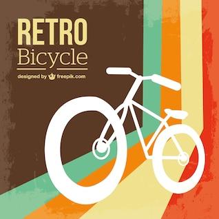 Bicycle retro free vector