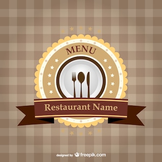 Restaurant brand ribbon template