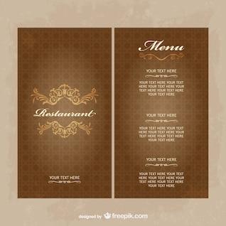 Restaurant menu vector free download