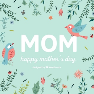 Mother's day vector typographic card