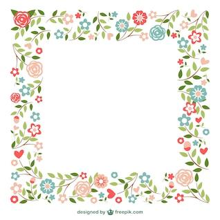 Ornamental frames flowers design