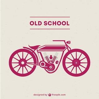 Old-school motorcycle free vector