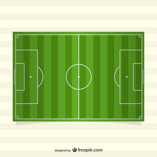Top view of vector soccer field