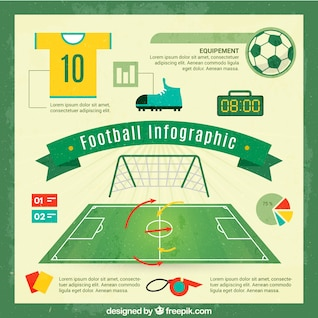 Soccer vector free infographic