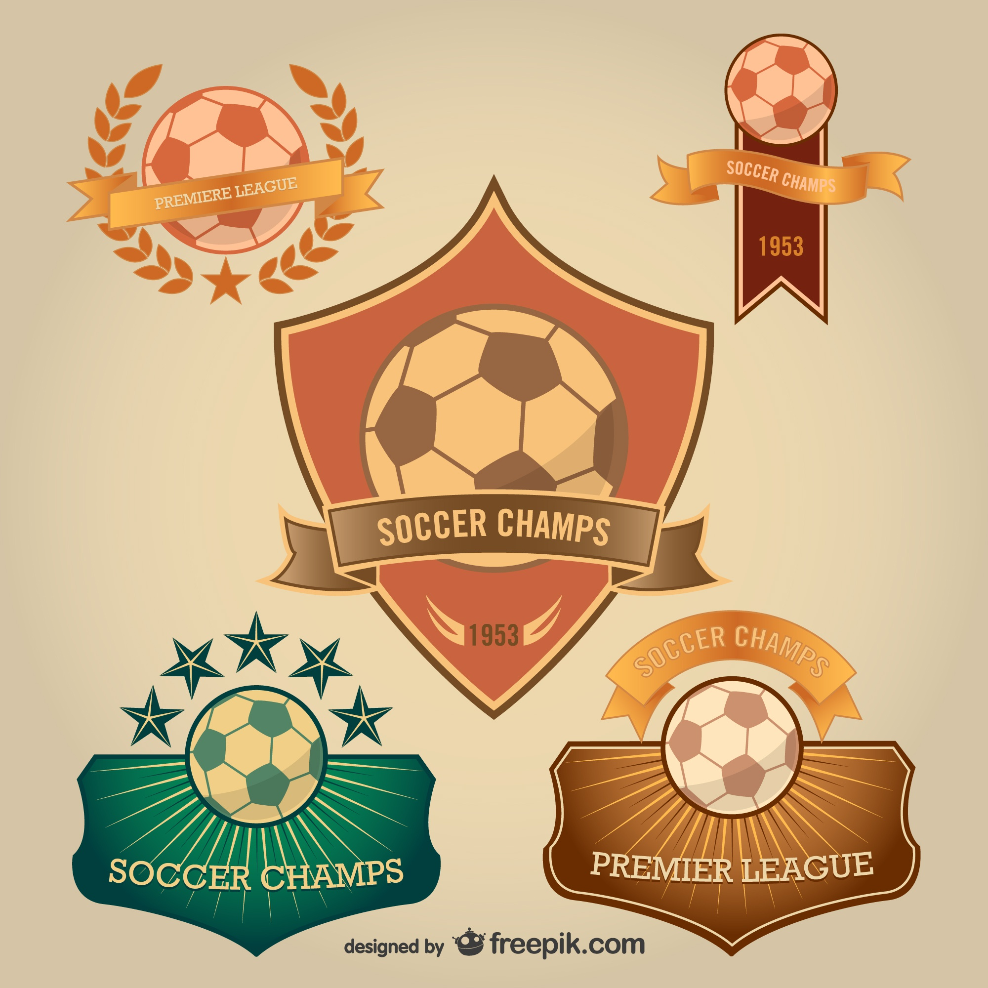 Soccer badges free for download
