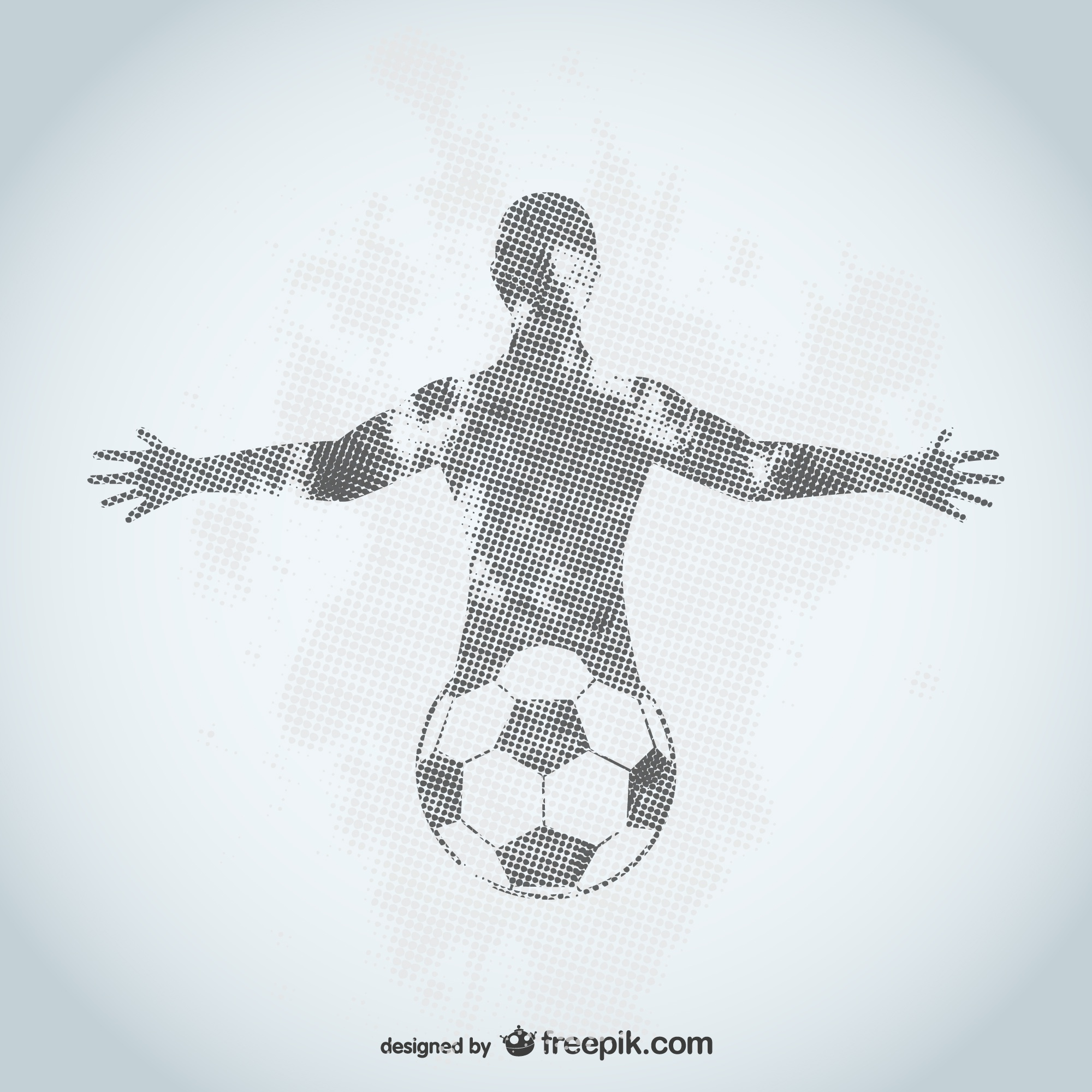Football player grunge design
