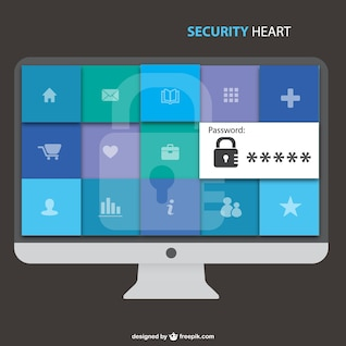 Computer safety free vector image