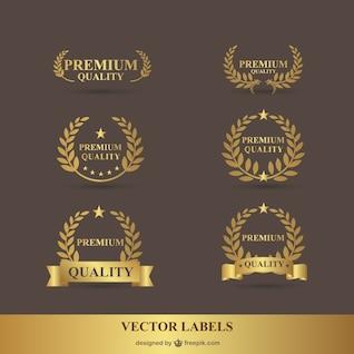 Premium laurel golden vector graphics