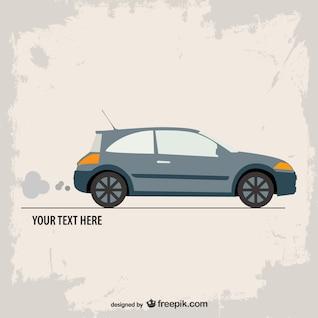 Retro flat car vector template