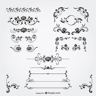 Floral decorations vector