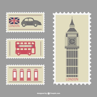 London vector stamps