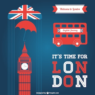 London vector graphic elements