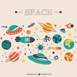 Space cosmos vector image