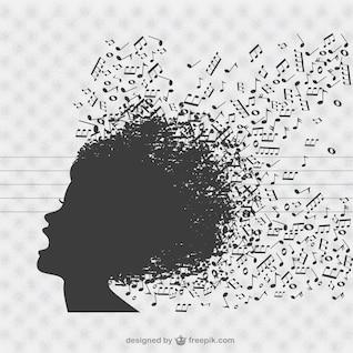 Music singer vector background