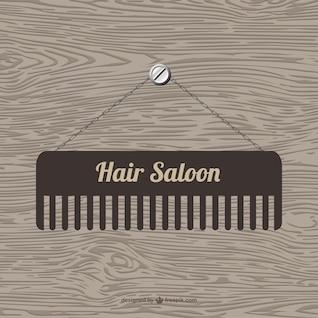 Hair saloon vector template