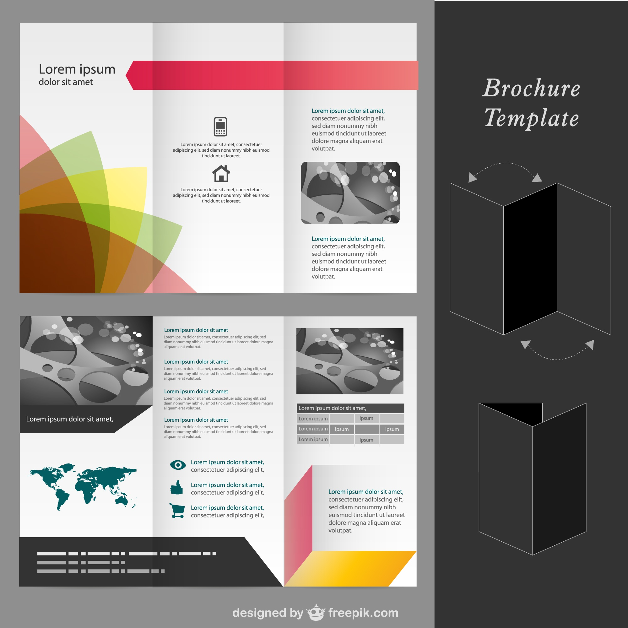 Brochure vector mock-up template
