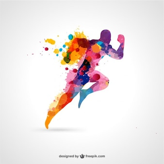 Running man vector free color splash