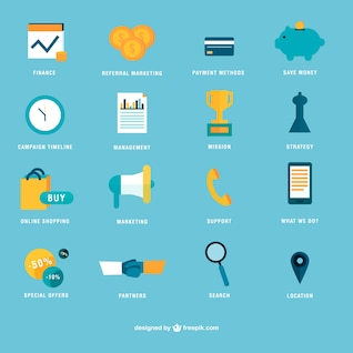 Flat icon vector set