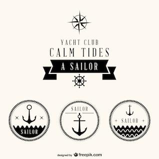 Nautical set of free badges