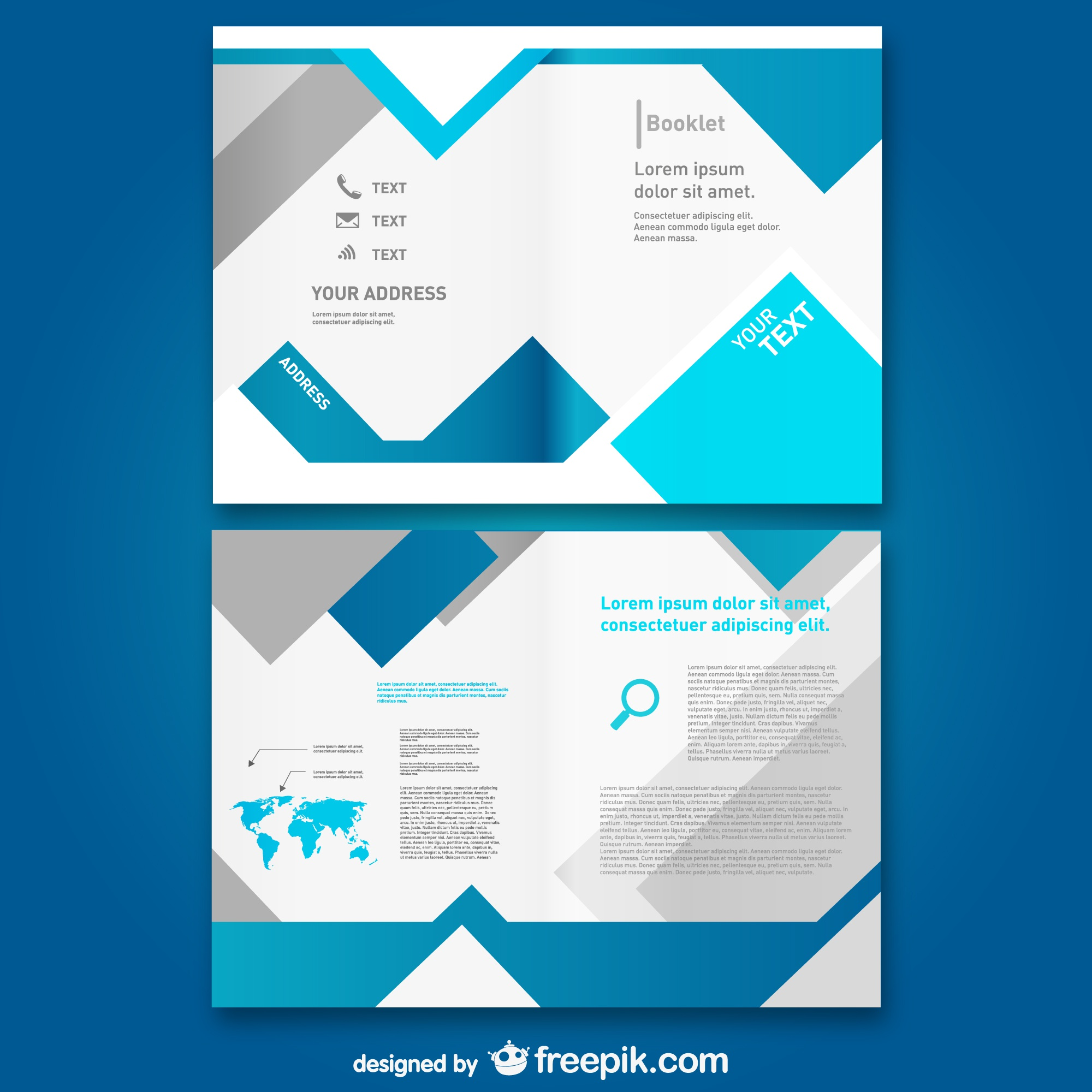 Free template mock-up brochure