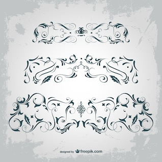 Arabesque vector graphic elements