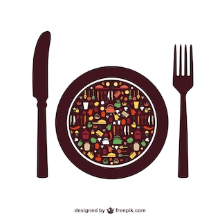 Food vector elements free menu