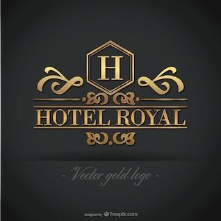 Golden hotel logo free graphics