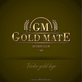 Gold free vector logo template