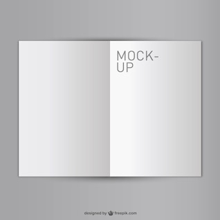 Blank opened book mock-up free