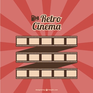 Film roll retro cinema vector
