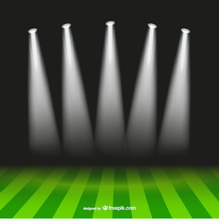 Soccer spotlight stadium vector