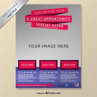 Realistic free brochure mock-up