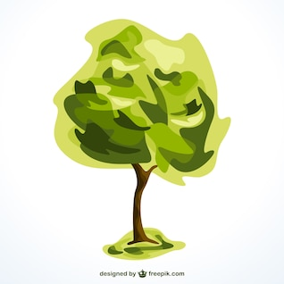 Tree vector isolated graphic element