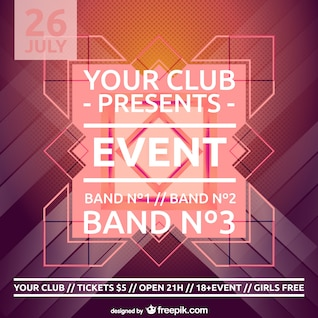 Party poster vector free