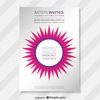 Abstract minimal party poster
