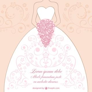 Wedding dress lace design vector