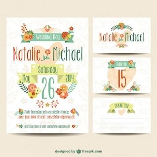 Wedding printables floral set
