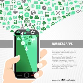 Business app free vector