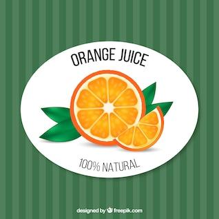 Vector orange juice retro template