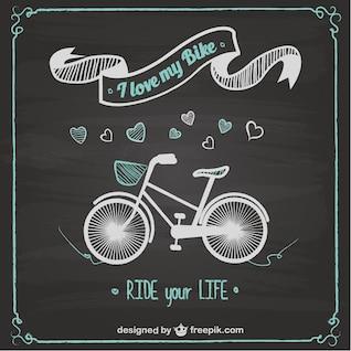 Bike ride chalkboard design