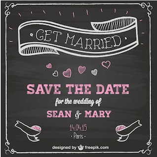 Wedding invitation chalkboard design