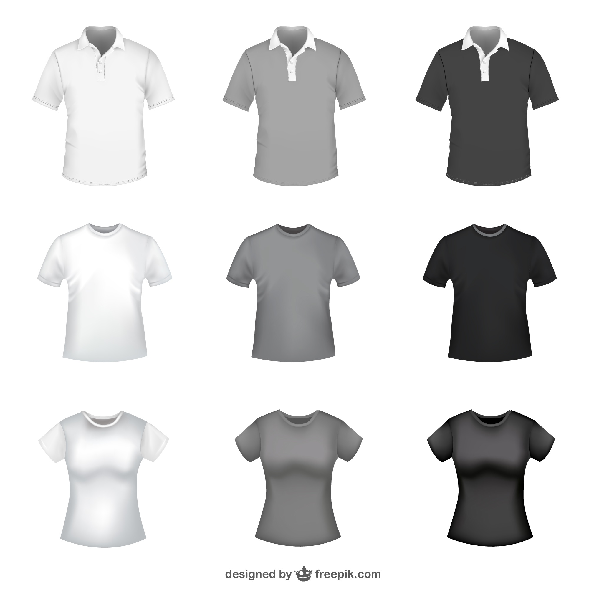 T-shirt free vector templates