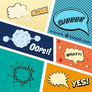 Comic Book graphic elements vector