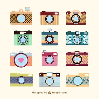 Vintage camera set template